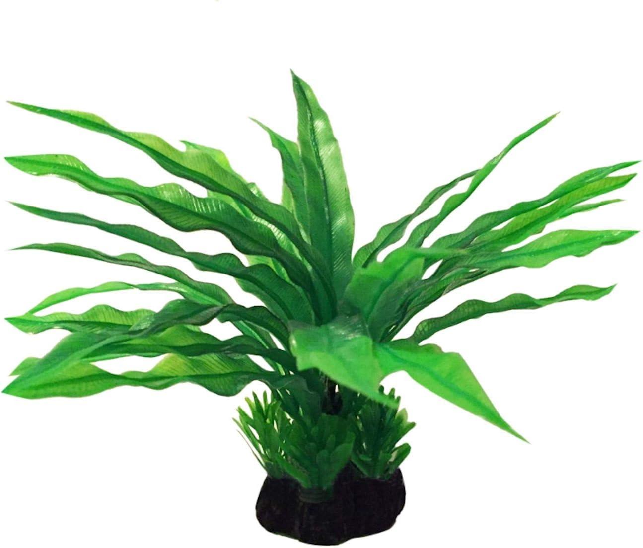 Amazon Com Long Leaf Java Fern Plastic Artificial Plant To Enhance Your Aquascape Fish Tank Aquarium Decor Looks Realistic Beautiful Green Leaves No Maintenance Required Ready To Install Furniture Decor