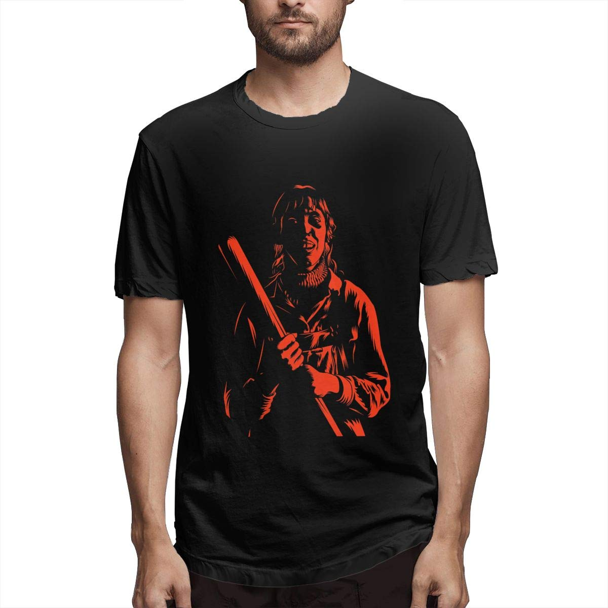LIBERVIV Wood Stick Girl Mens Short Sleeve T-Shirt