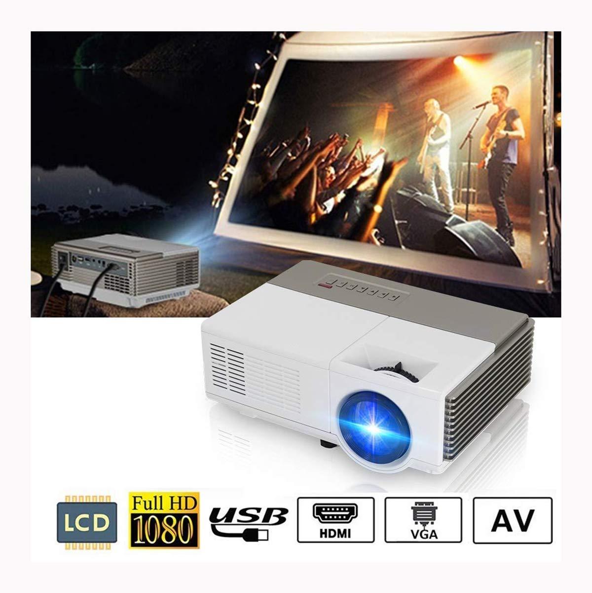 Proyector de video LED Mini 4500Lux Pequeño proyector portátil de ...