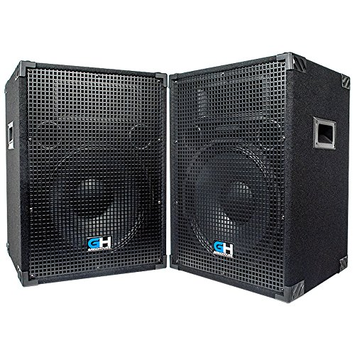 Grindhouse Speakers - GH15L-Pair - Pair of Passive 15 Inch 2-Way PA/DJ Loudspeaker Cabinets  - 800 Watt each Full Range PA/DJ Band Live Sound Speaker by Grindhouse Speakers