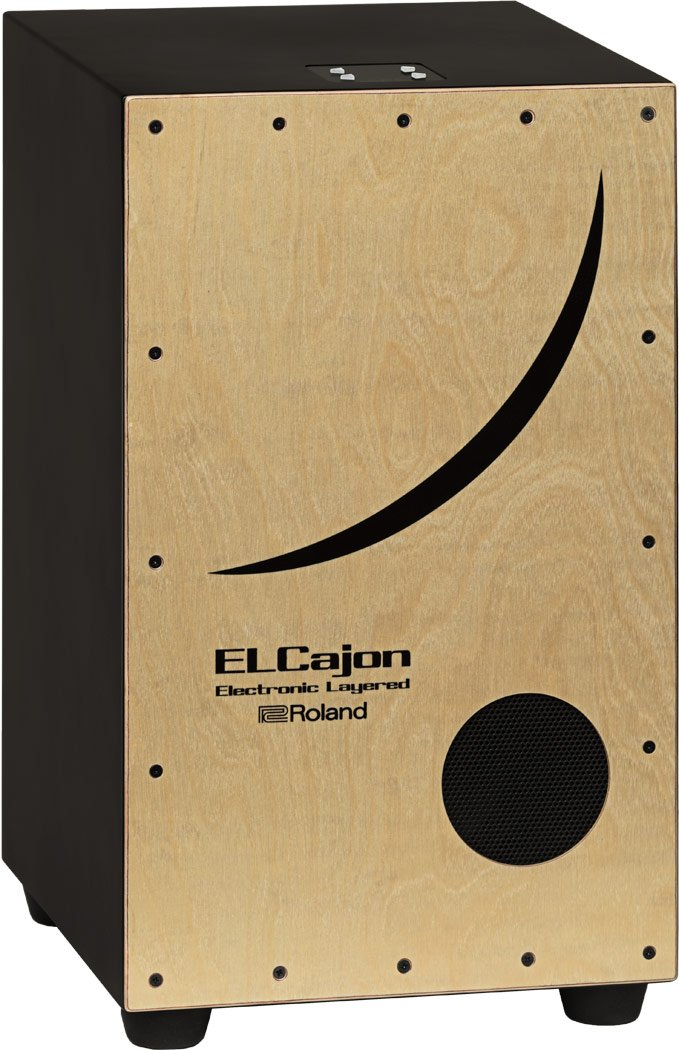 Roland ELCajon Electronic Layered Cajon, Natural (EC-10) by Roland