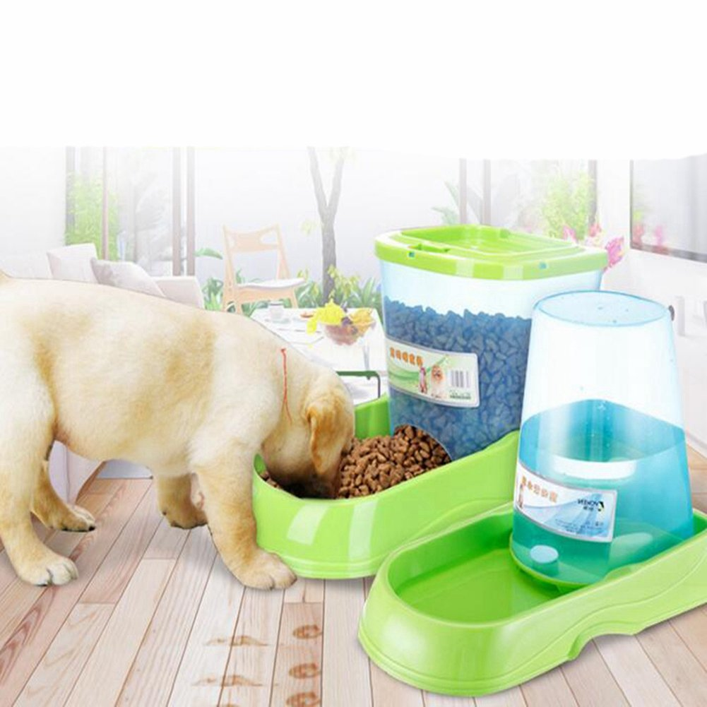 JIN Gravity Pet Feeder And Waterer Water Station Food Dispenser Bowl Gourmet Combo For Dog Cat Animal by WJL (Image #2)