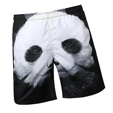 5e50a70e65 Sharplace Hommes Maillots de Bain Shorts de Plage 3D Impressions Panda  Sport Pantalon Court Piscine Mer