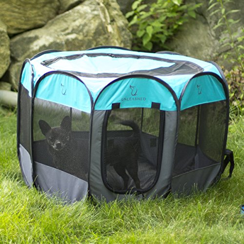 Unleashed Pets Portable Foldable Pet Playpen Carrying