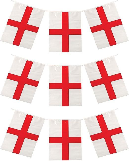 18.3m Bandera Inglaterra St Georges Día Cruz BANDERITAS multiclima ...