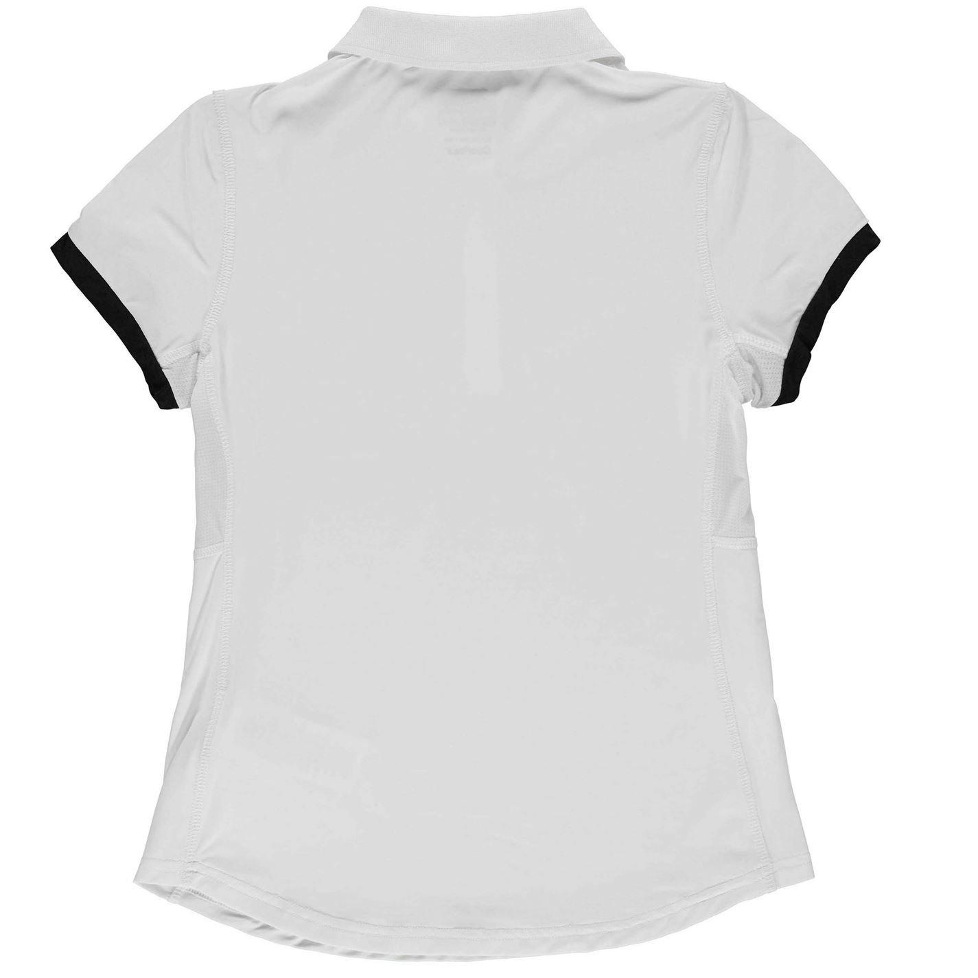 Slazenger Kids Girls Court Polo Shirt Junior Short Sleeve