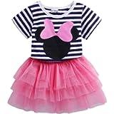 Mud Kingdom Toddler Girls' Cartoon Cute Set T-Shirt and Tutu Skirt Outfit
