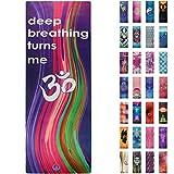 Soul Obsession Yoga Mat Microfiber Printed Art Design - Deep Breathing Turns Me Om
