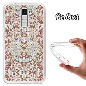 BeCool® - Funda Gel Flexible LG K10 BeCool Brunt Sienna Pattern Carcasa Case Silicona TPU Suave