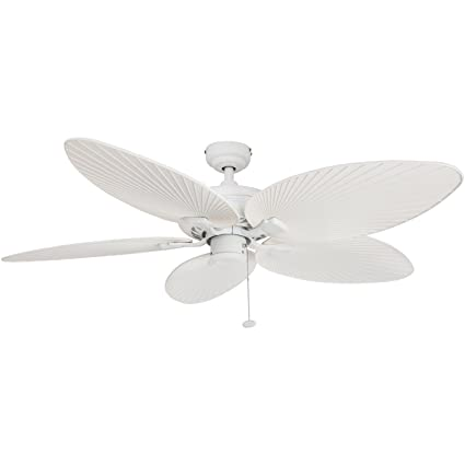 Amazon palm coast fans 50200 palm island tropical indoor palm coast fans 50200 palm island tropical indooroutdoor ceiling fan white 52quot aloadofball Image collections