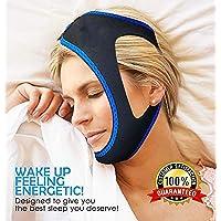 BetterAngel Correa de Soporte Anti-ronquido Correa de Barbilla Natural Instant Sleep Alivio de mandíbula Ajustable de Velcro no se deslice Fuera de la Tela Respirable para Salud