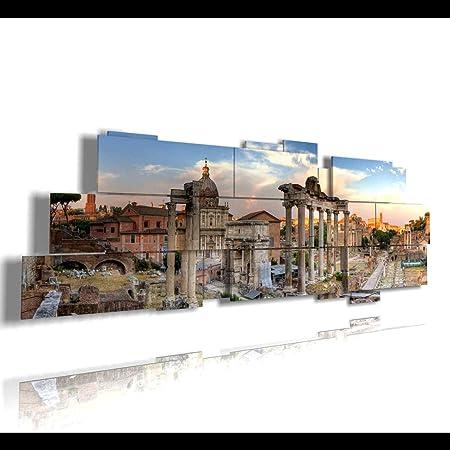 duudaart Quadro Moderno Roma Foro Romano 02 multilivello 3D Quadri Moderni  Soggiorno XXL Camera da Letto Cucina Salotto Ufficio