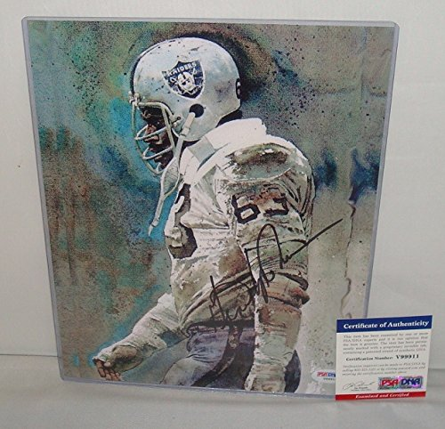 Gene Upshaw Signed 8.5x11 Canvas, Oakland Raiders Legend, PSA/DNA
