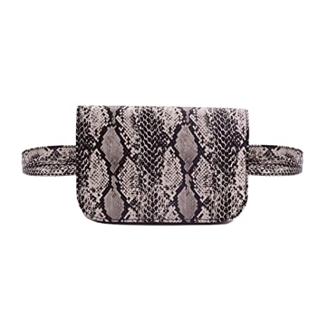 ee4b61e12764 Amazon.com | Small PU Leather Elegant Fanny Pack Belt Bag Purse Snakeskin  pattern for Women Travel | Waist Packs