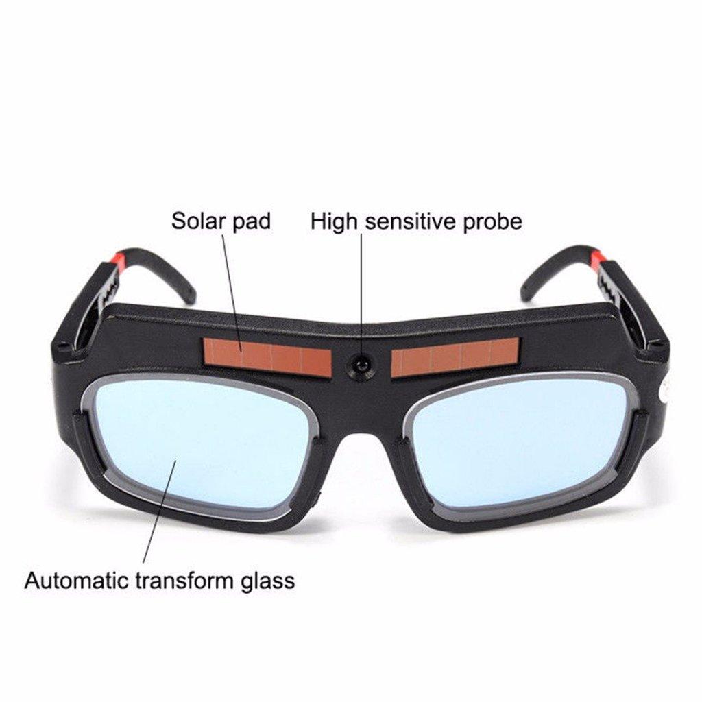 Baoblaze 2X Solar Auto Darkening Welding Goggles Helmet Mask Tig Mig Grinding Shield