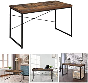 VAHIGCY 47Inch Writing Computer Desk Modern Simple Study Desk, Computer Home Office Desk Pc Laptop Notebook Study Writing Table Desks Gor Home Office