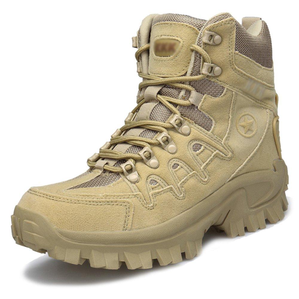 JINGRONG Männer Lace Ups Armee Militärwüste Kampfstiefel Sicherheit Polizei Stiefel Camping Wandern Klettern Schuhe Special Forces Stiefel