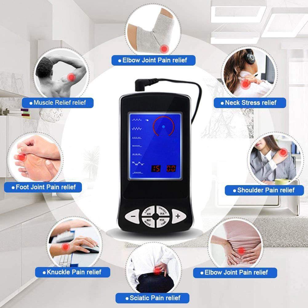 Createjia 15 PCS /Électrode De Massage /Électrostimulateur Pour Le Stress Du Nerf Sciatique Anti-douleur Et La Douleur Musculaire Noir