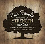 Our Family Tree Circle of Strength Love and Faith 24 x 25 Wood Pallet Wall Art Sign Plaque