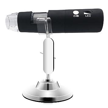 fc78837dd6b WiFi Microscopio Digital Portátil Portátil inalámbrico USB Microscopio 50x  a 1000x Aumento 1080P HD 2MP Cámara incorporada en 8 Luces LED para iPhone  iPad ...