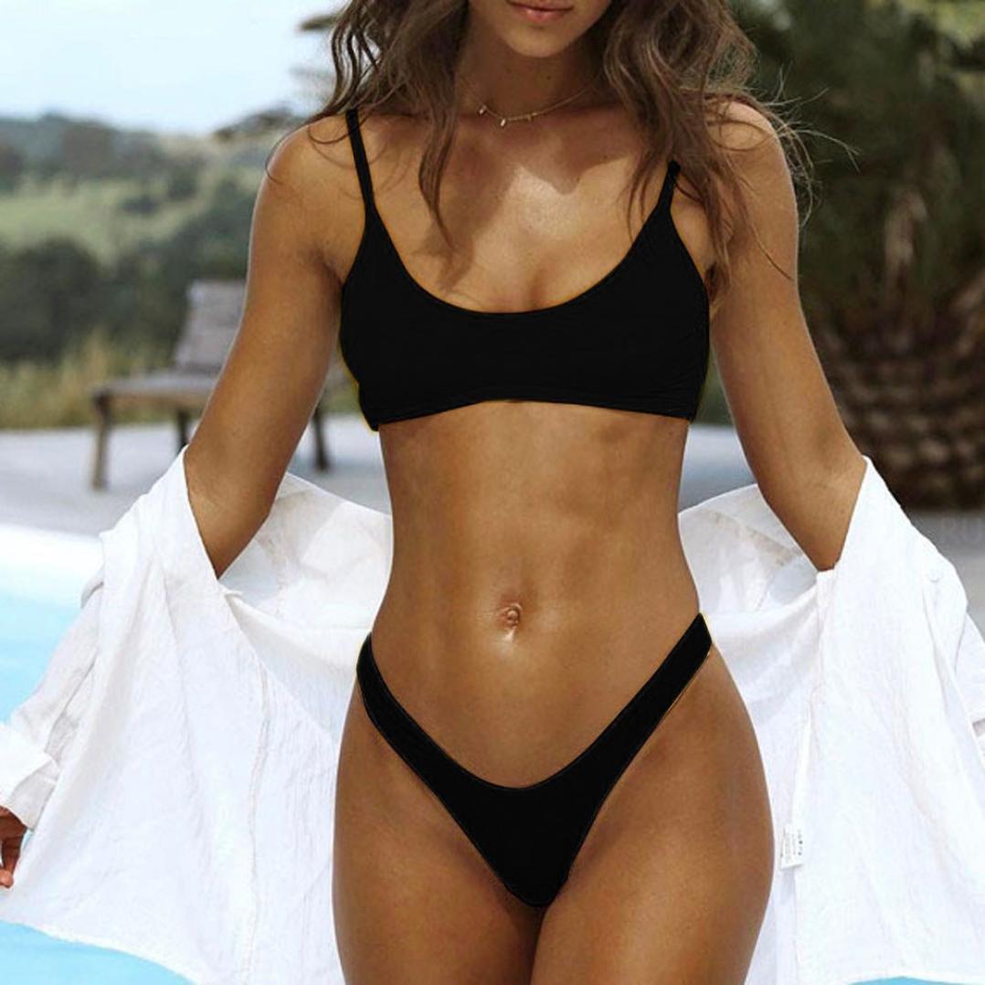 9c51c17c9cb20 Amazon.com: Amanod 2018 hot sale Women Push-Up Padded Bra Beach Bikini Set  Swimsuit Swimwear: Clothing