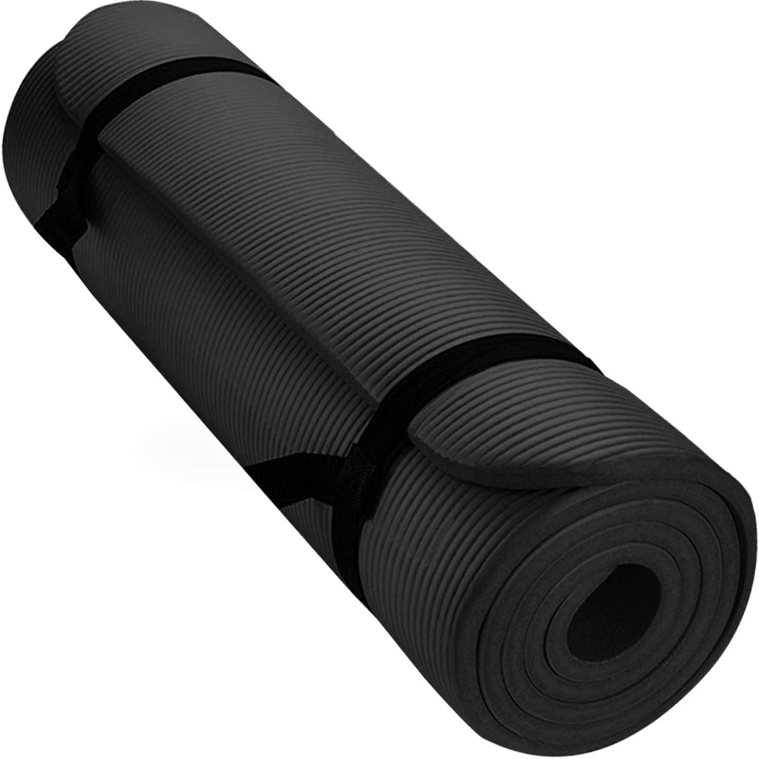 Aduro Sport Yoga Workout Mat, Extra Thick Yoga Foam Mat for Home Gym Exercise Mat with Carrying Strap