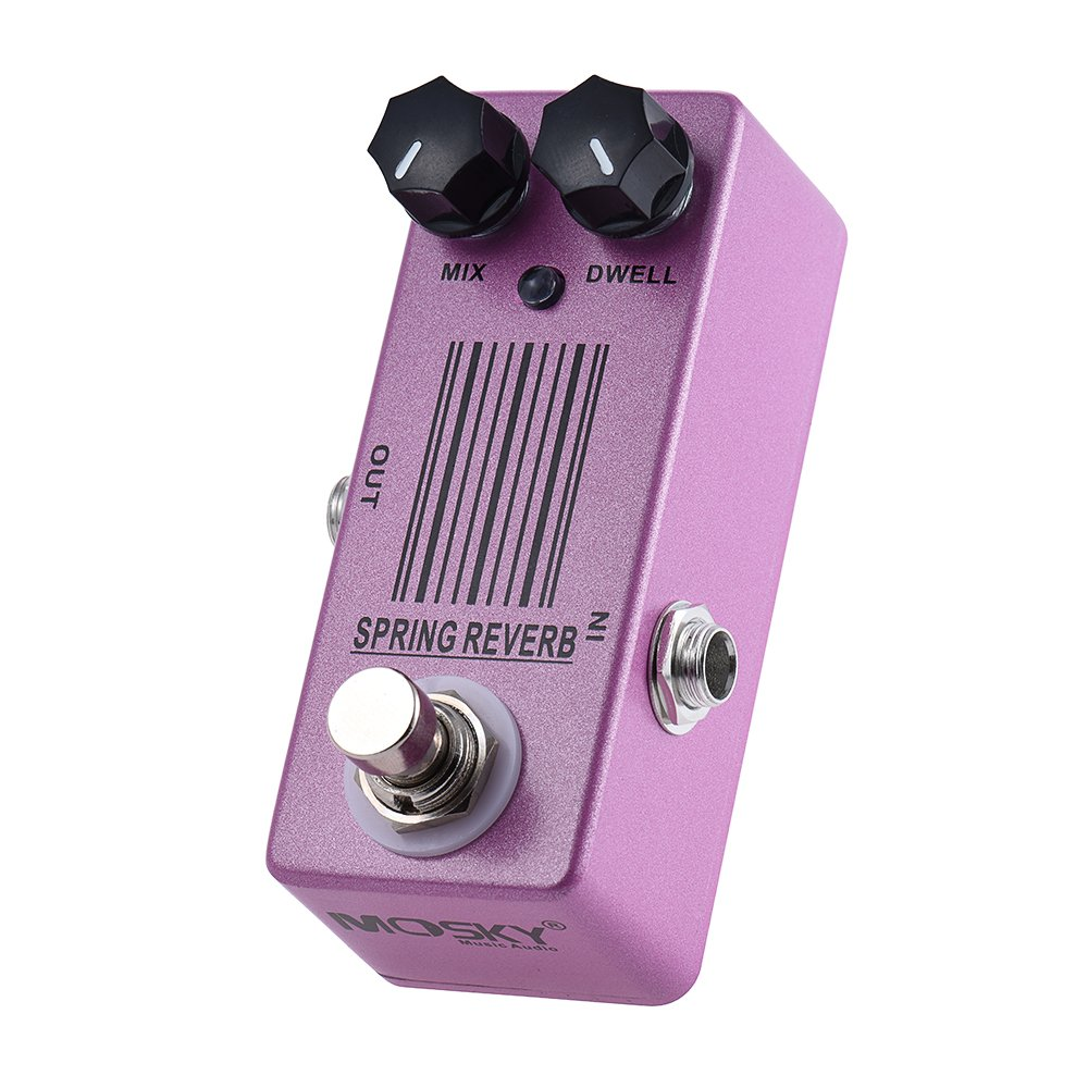 Andoer MOSKY MP-51 Spring Reverb Mini Single Guitar Effect Pedal True Bypass