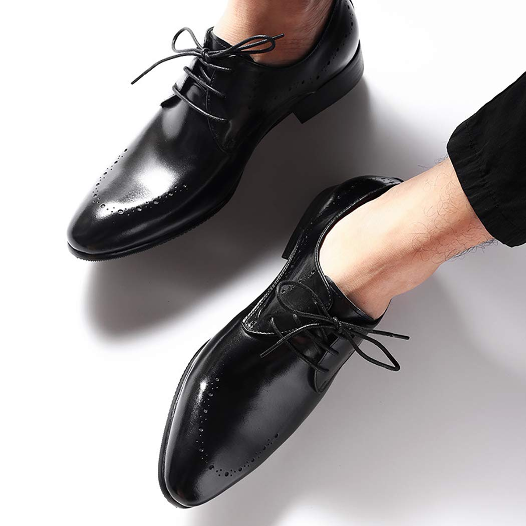 Brogues Oxford Shoes Mens Carved Leather Fashion Business Formal Dress Shoes Classic Lace Up Casual Shoes Male