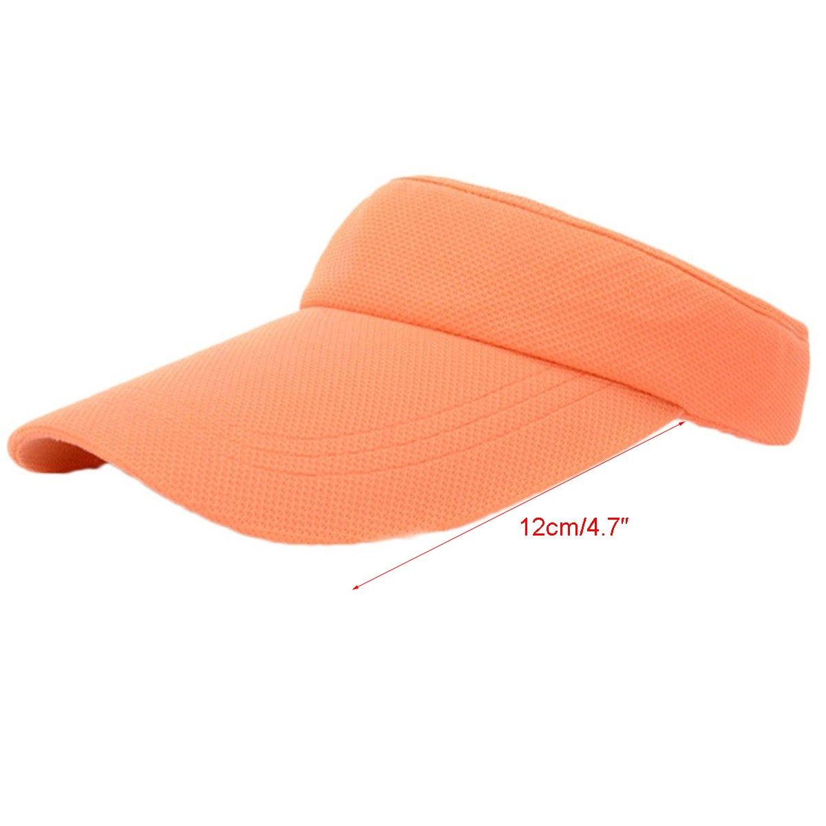 Evaliana UV Protection Thicker Sweatband Visor Sun Hat Cycling Fishing Tennis Running Cap