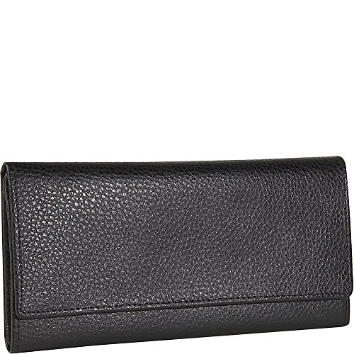 Budd Leather Pebble - Budd Leather Continental Wallet Black