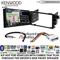 Volunteer Audio Kenwood Excelon DNX994S Double Din Radio Install Kit with GPS Navigation Apple CarPlay Android Auto Fits 2002-2003 Chevrolet S10, 2001-2002 Chevrolet Express