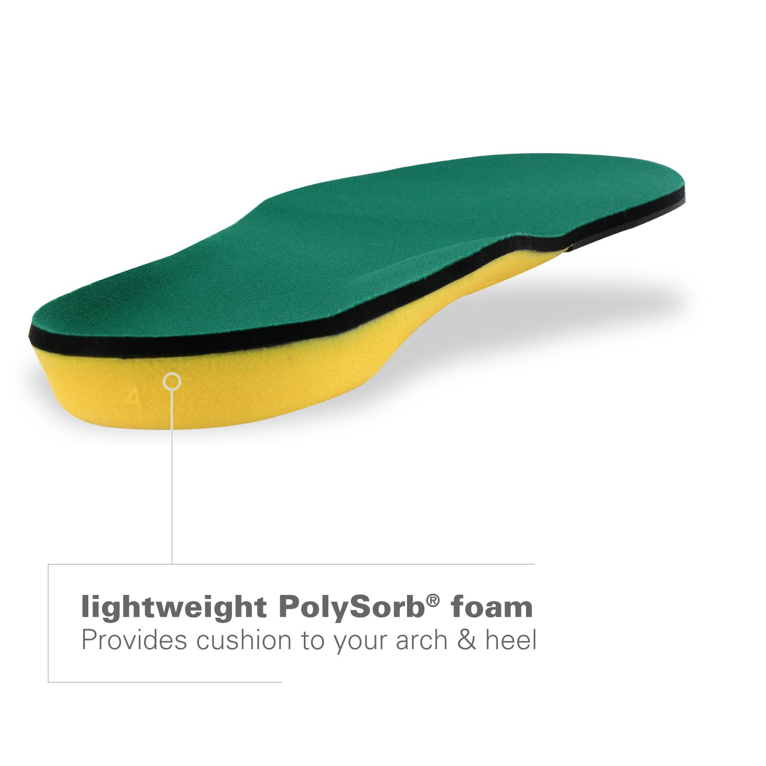 Spenco Polysorb Heavy Duty Maximum All Day Comfort and Support Shoe Insole, Women's 11-12.5/Men's 10-11.5 by Spenco (Image #3)
