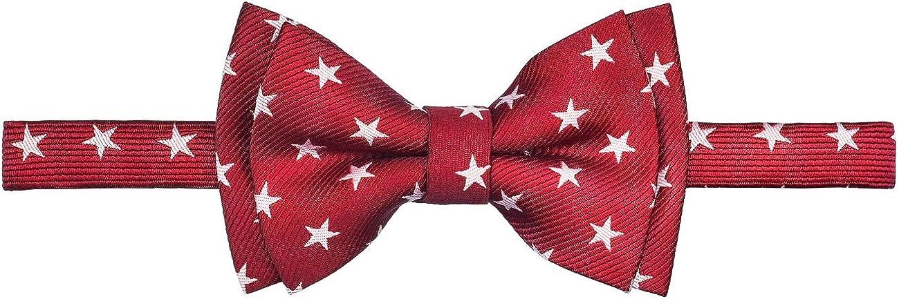 Retreez Stylish Stars Woven Microfiber Pre-tied Boys Bow Tie