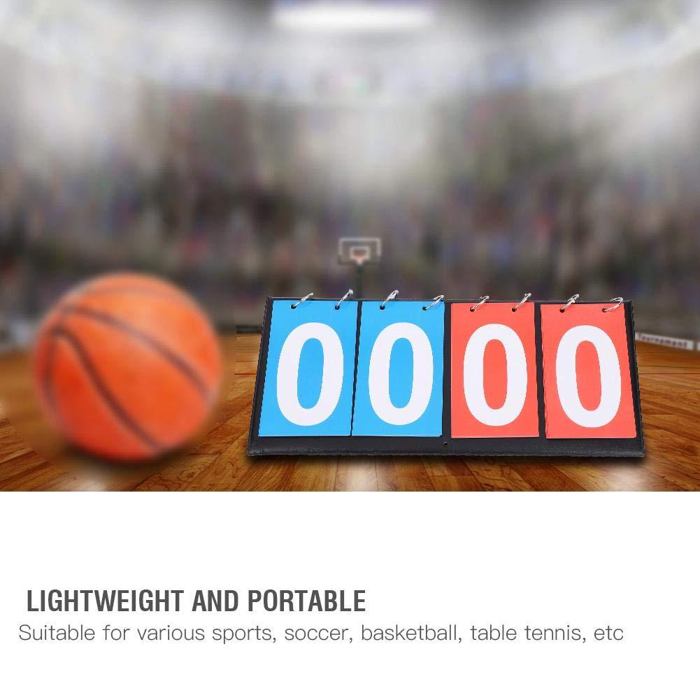 SolUptanisu Scoreboard Portable Flip Sports Scoreboard Sporting Goods 3//4 Digit Table Top Scoreboard for Table Tennis Basketball Sports Game