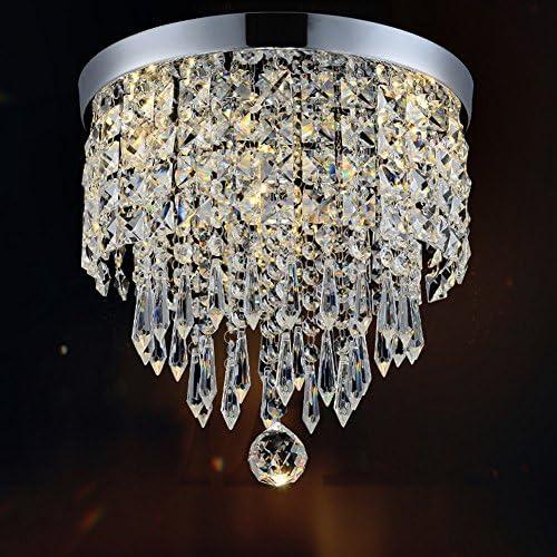 Dellemade chambre denfant Pour cage descalier bar Mini-lustre moderne en cristal /à 1 ampoule cuisine salle /à manger 22 cm