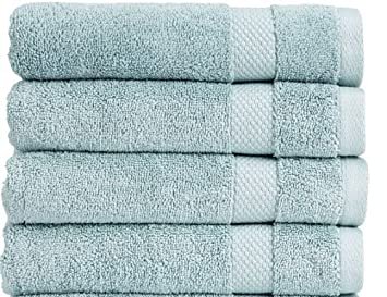 Welspun Christy Bamforth 650 G/m² - Toalla de baño hoja, Spa azul: Amazon.es: Hogar