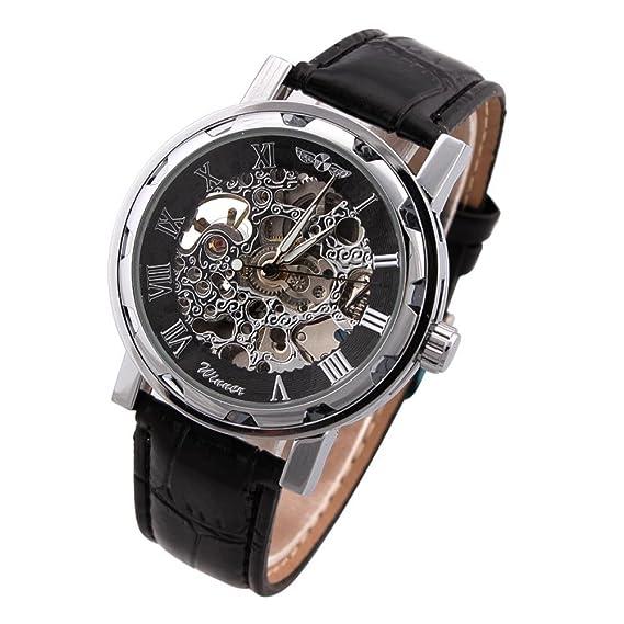 Beauty regalo 1 pieza o cama de matrimonio de esqueleto marca relojes Winner mecánica Auto acero