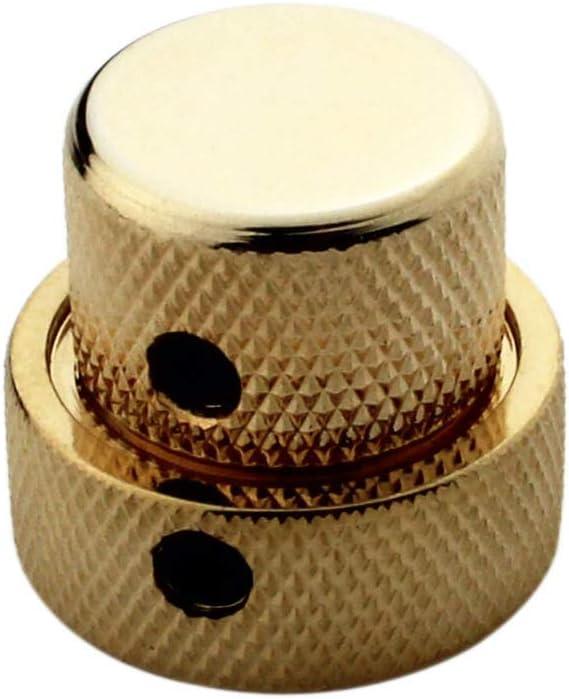 chrome GUYKER Dual Concentric Control Knob for Electric Guitar 1 set