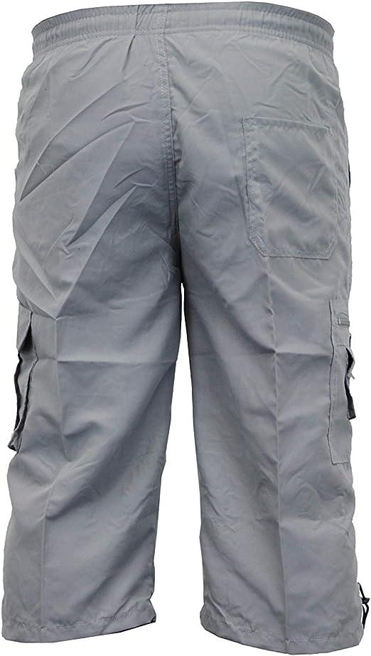 MENS PLAIN CARGO SHORTS 100/% COTTON CASUAL SUMMER BEACH COMBAT WORK SPORTS PANTS