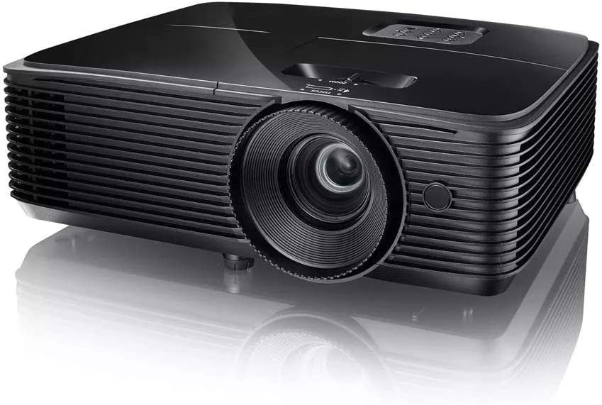 GXY Projector Dlp Projector Support 3D Resolution 1920X1200 Full Hd 1080P Projector with 10W Speaker 3600 Lumens for Presentation,Black,One Size