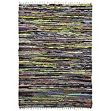 Royal Chindi 5×7.5 Large Braided Cotton Area Rag Rug Colorful Striped Recycled Review