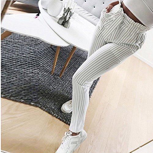 Dcontract Jeanshosen Automne Taille ITISME Jeans lastique Femmes et Casual Pantalons Bleu Hiver Denim Taille Blanc Pantalon Haute E8wpHd