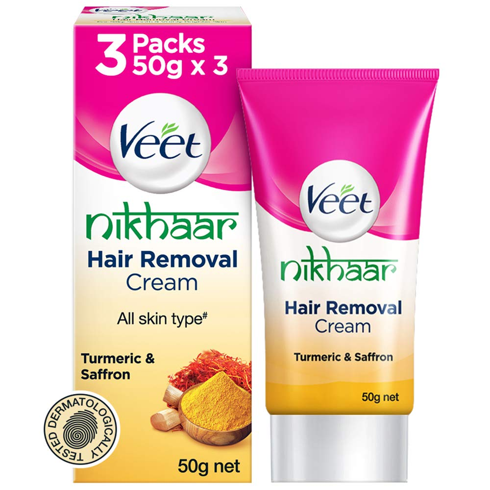 Veet Nikhaar Hair Removal Cream For All Skin Types 50 G Pack Of
