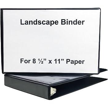 Amazon Com 1 Quot Heavy Duty Landscape Binder Black Vinyl