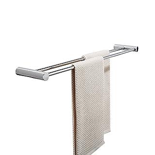 HCJMJJ FJXLZ® Toallero, Baño montado en la Pared Toallero de Acero Inoxidable 60cm Inoxidable montado en la Pared
