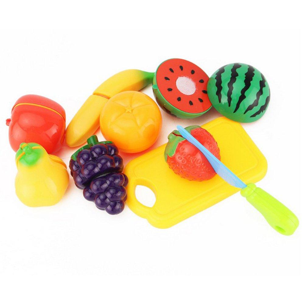 TOYMYTOY Cortar Frutas Verduras juegos de simulació n Juguetes de Temprano Desarrollo Educació n juego de cocina para niñ o 9 piezas