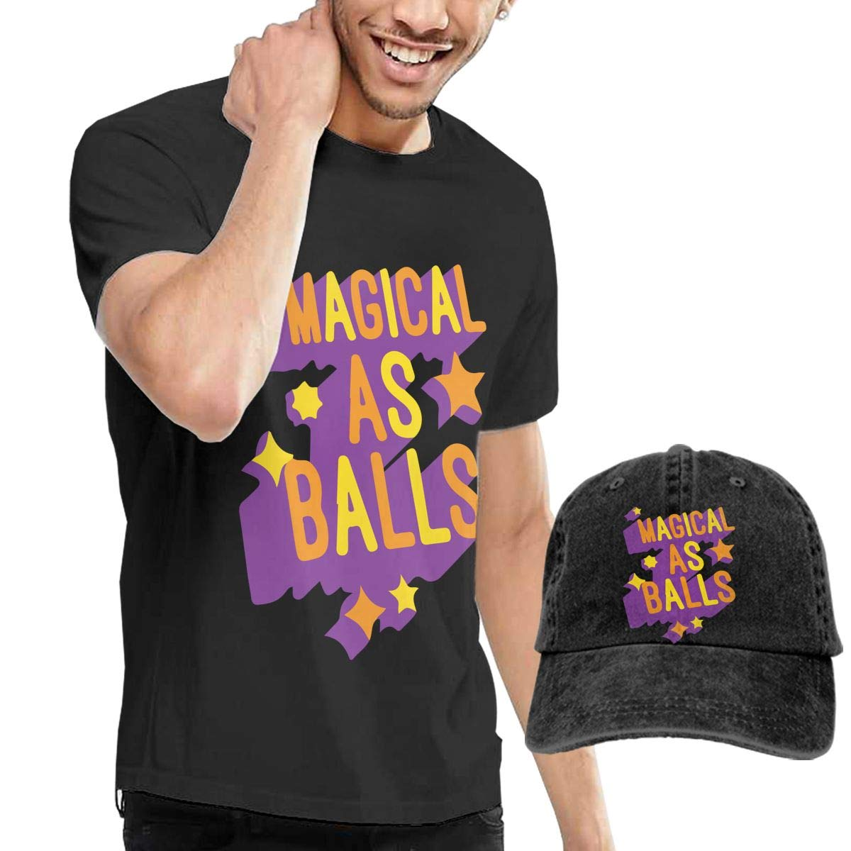 Magical As Balls Fashion Mens T-Shirt and Hats Youth /& Adult T-Shirts Black