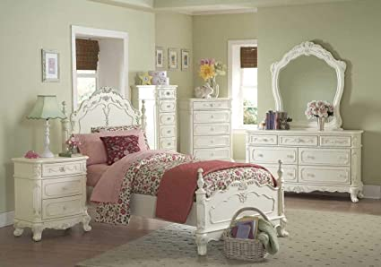 Amazon.com - Homelegance Cinderella Bedroom Collection in ...
