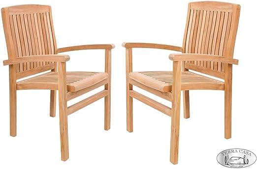 TERRA Chaise de Jardin mobilier de Jardin Medan Teck 2 ...