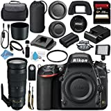 Nikon D750 DSLR Camera 1543 AF-S 200-500mm f/5.6E ED VR Lens 20058 + 95mm UV Filter + Carrying Case + 256GB SDXC Card + Card Reader + Professional 160 LED Video Light Studio Series Bundle